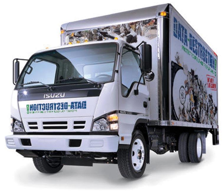 hard drive destruction mobile truck