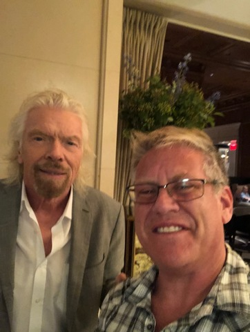 Michael Wieser Rubbing Elbows with Sir Richard Branson