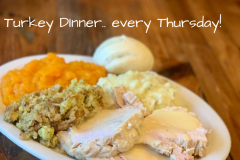 Turkey Dinner with all the fixins'