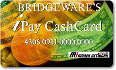 With one click, your employee can have their pay transferred to Bridgeware's IPay Cash Card and have cash instantly available to them at over 300,000 ATM machines nationwide