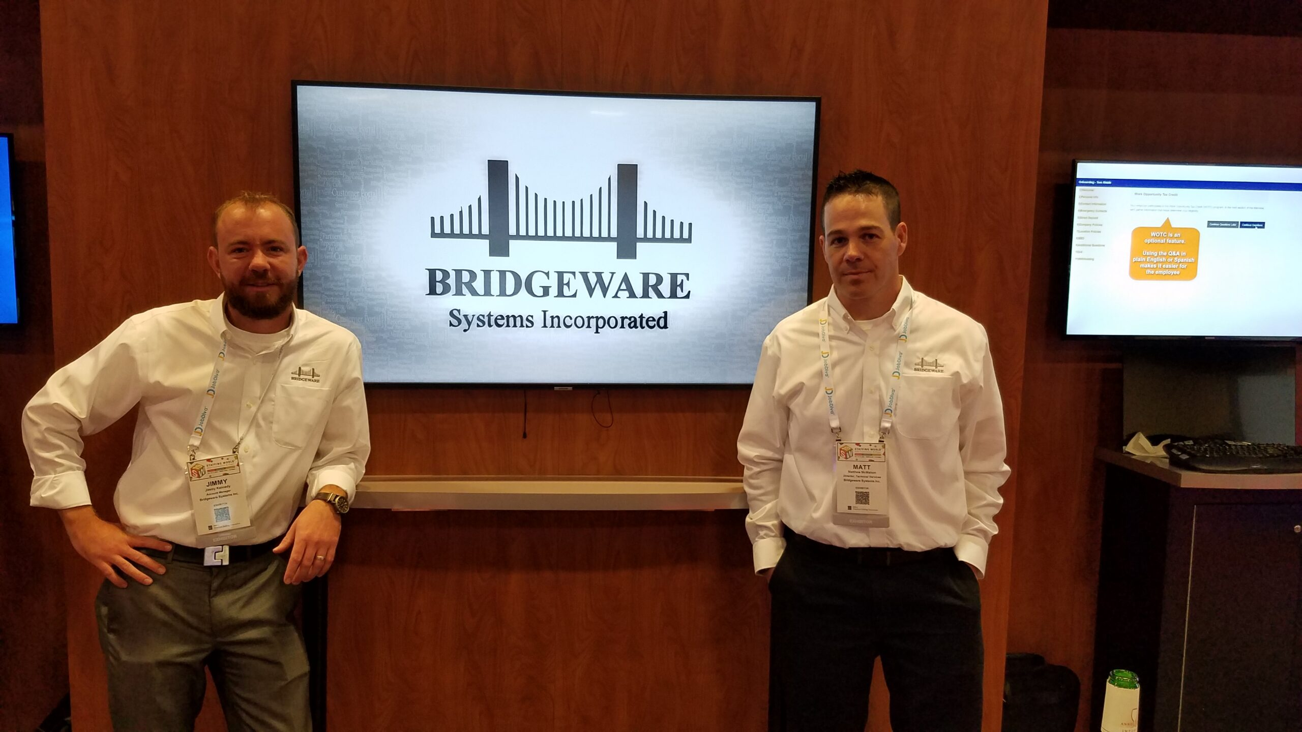 bridgeware's staffing convention Booth