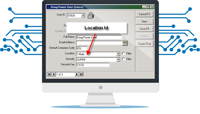 Location ID in a Computer monitor