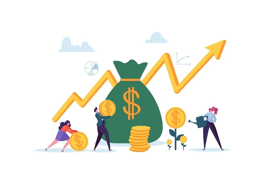 Investment Financial Concept Staffing Company Profits