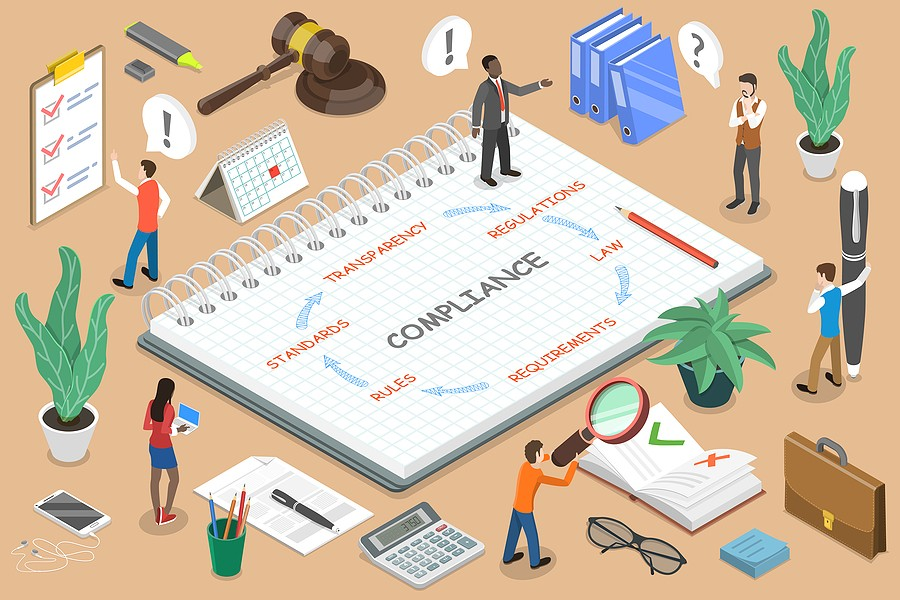 Regulatory Compliance Flat Isometric Vector Conceptual Illustrat