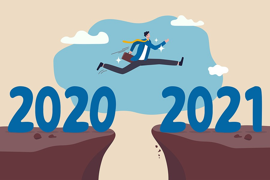 New Year 2021 Hope For Business Recovery, Change Year From 2020
