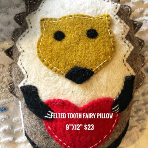 Felted Tooth Fairy Pillow