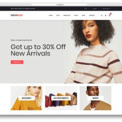 página inicial loja virtual