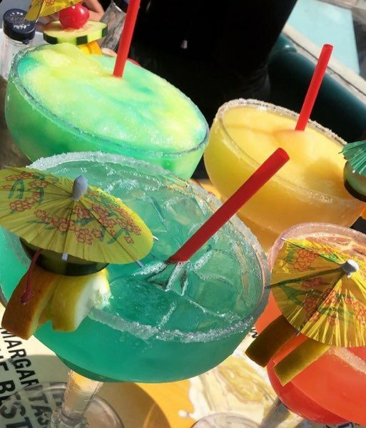 Mega Margaritas available in many flavors
