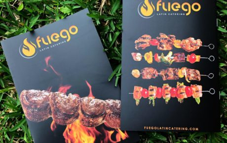 Fuego Latin Catering Pamphlet | Pamphlet Design | Brochure Design | Product Design