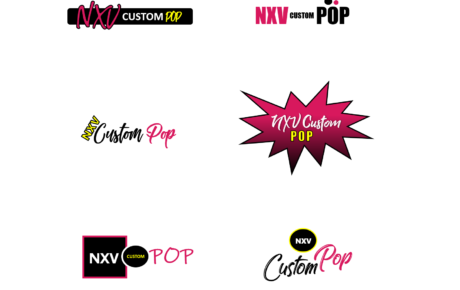 NXV Custom Pop Logo | Logo Design | Graphic Design | Greeting Card Logo