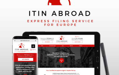 ITIN Abroad, Tax Website, Tax Website Design, IRS Website, IRS Website Design