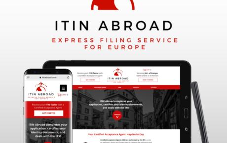 ITIN Abroad, Tax Website, Tax Website Design, IRS Website, IRS Website Design