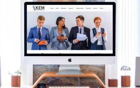 KEM Financial Services | Tax Web Design | Finance Web Design