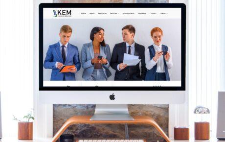 KEM Financial Services | Tax Web Design | Finance Web Design
