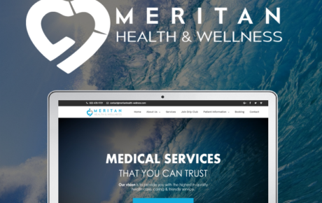Meritan Health - IV Therapy Website, IV Therapy Web Design, B-12 Injections Website Design