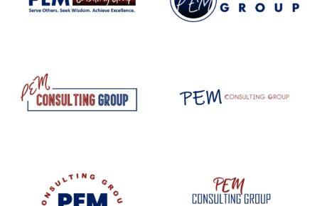 PEM Consulting Logo | Consulting Logo | Business Logo | Consultation Logo