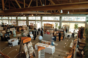 Trade show venue set up at the downtown Renton Pavilion Event Center