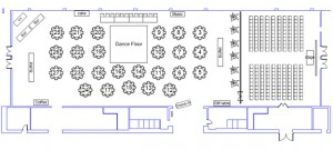 Wedding Floor Plan for 200 people at the Renton Pavilion Event Center