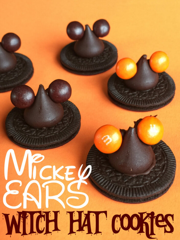 Disney Halloween Mickey Mouse Ear Witch Hat Cookies