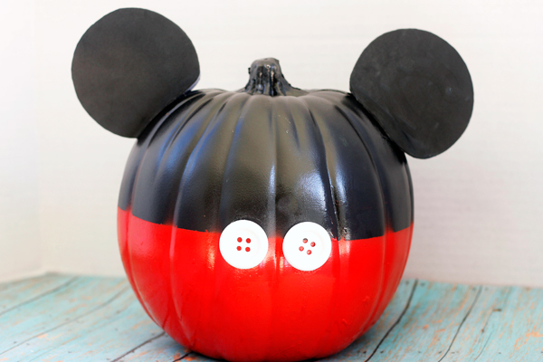 Mickey Mouse No Carve Pumpkin