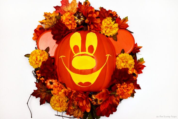 Mickey's Not-So-Scary Halloween Wreath - As The Bunny Hops®