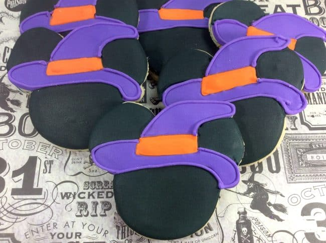 Halloween Party Ideas | Witch Mickey Mouse Cookies