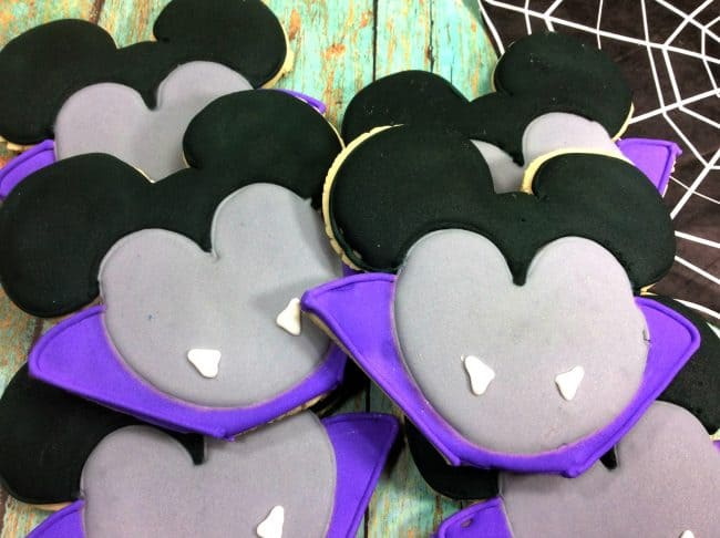 I Vant to Eat These Cookies! Vampire Mickey Mouse Cookies