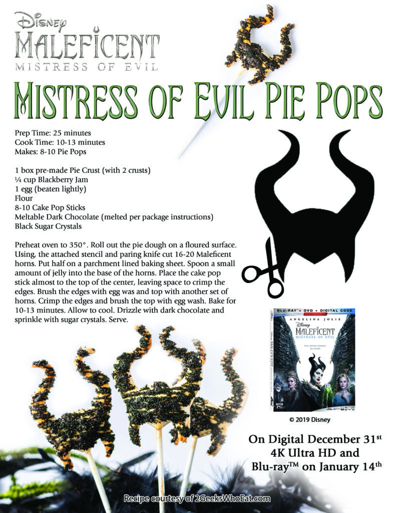 Maleficent Pie Pops Recipe
