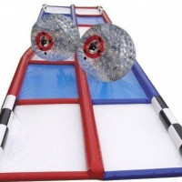 Two Zorb Balls with Criss Cross Track