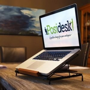 posidesk POSI211LP adjustable laptop stand 2
