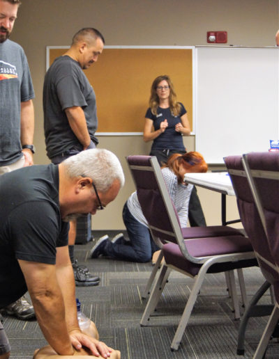 Image of students in an adult CPR training
