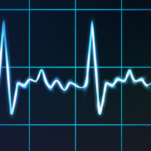 electrocardiogram with heart