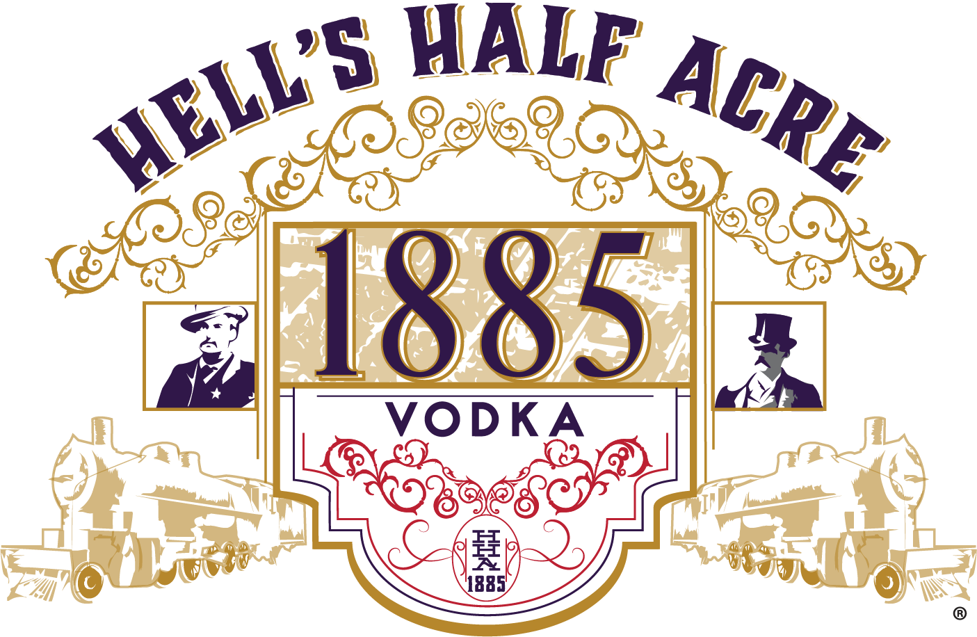 Hell's Half Acre 1885 Vodka Logo
