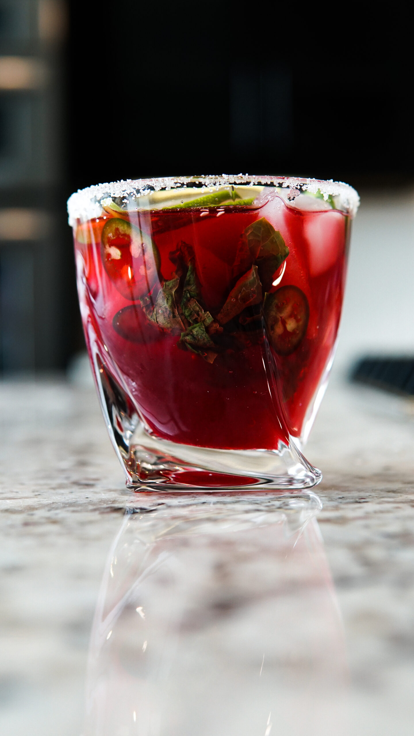 Summer Hibiscus Tea with Mint and Jalapeño