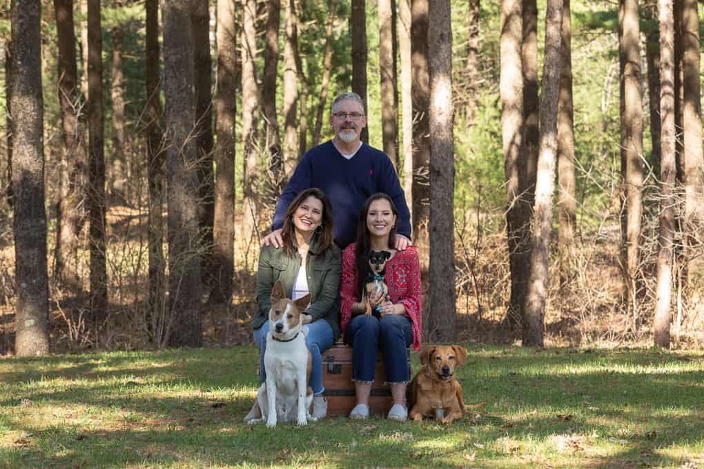 Family with Dogs Shadow Dog Photography