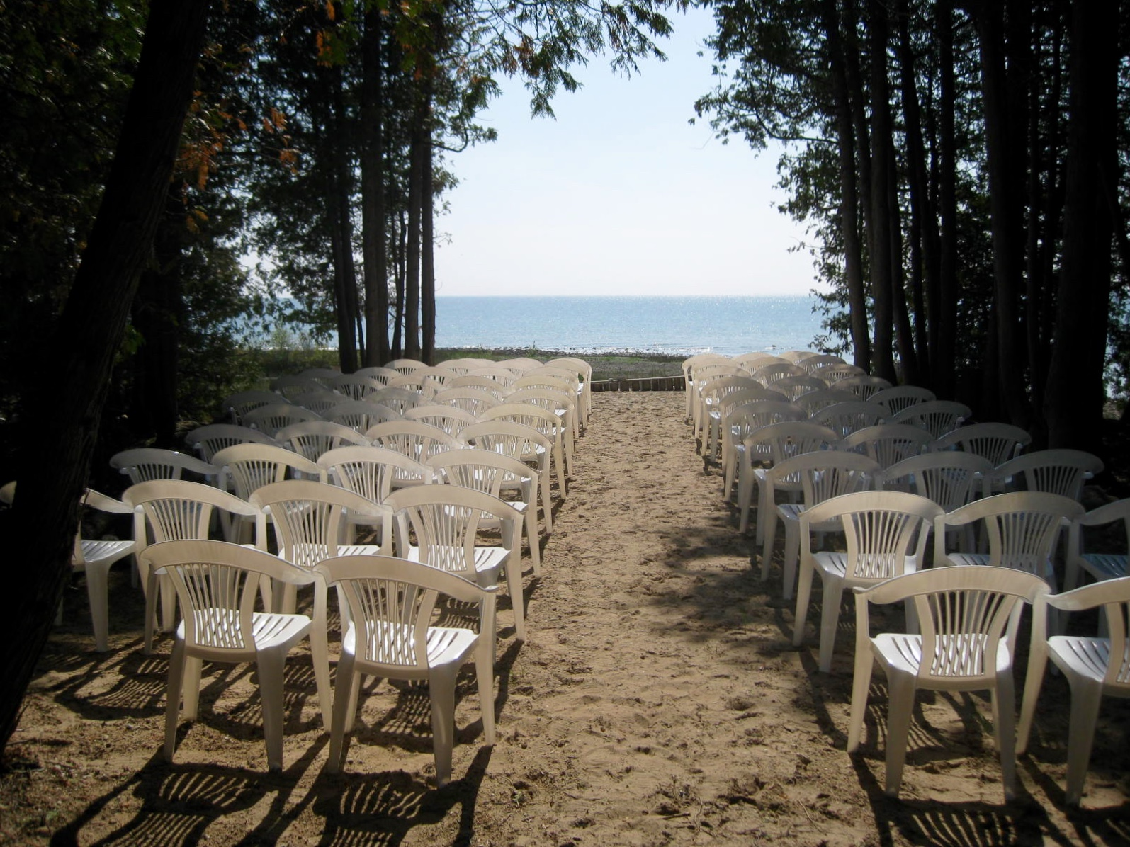 Waiting for your barefoot in the sand ceremony.
