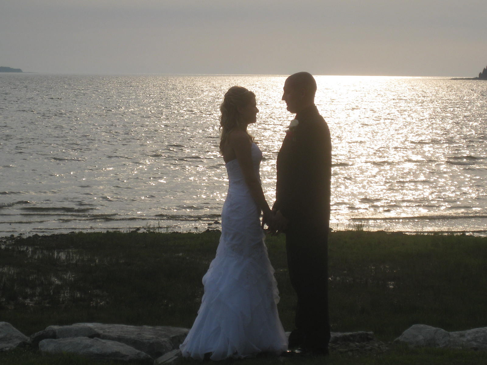 The first reflections of our life together after our wedding at Elope Up North on Lake Michigan.