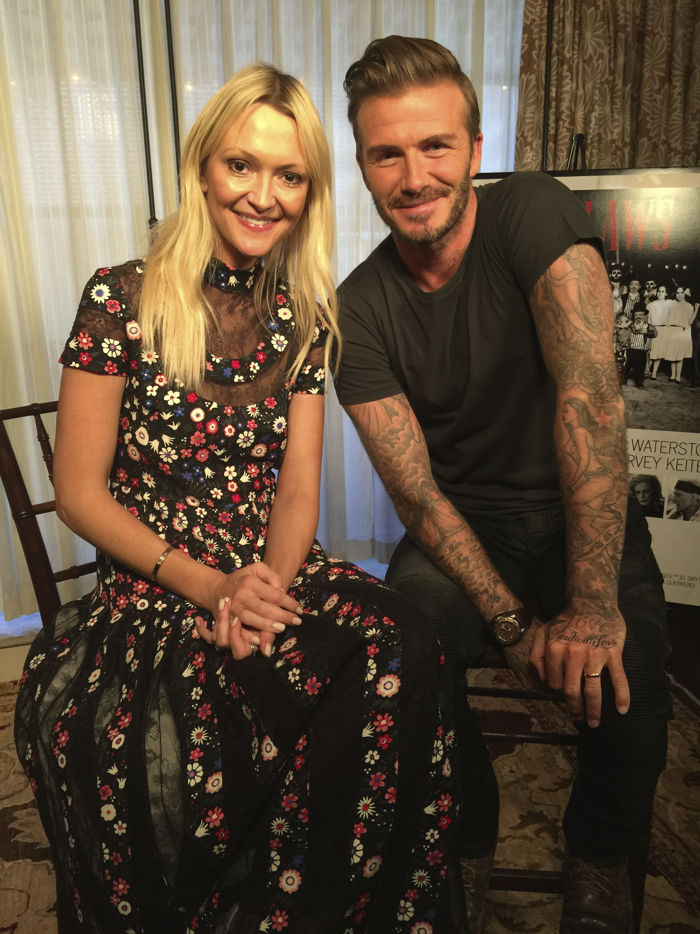 Zanna and David Beckham