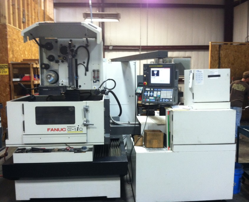 MIC-ALL Machining is equipped with a Fanuc Wire EDM