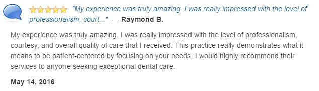 My experience was truly amazing. Impressive level of professionalism, courtesy, and quality of care.