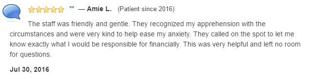 The staff was friendly, gentle, and were very kind to help ease my dental anxiety.