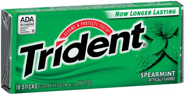 Trident gum with Xylitol