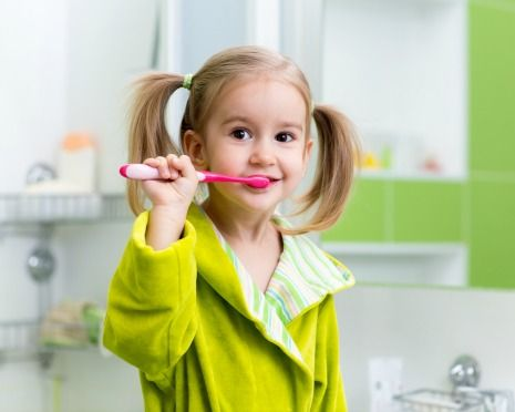 Brush teeth for two minutes, two times daily