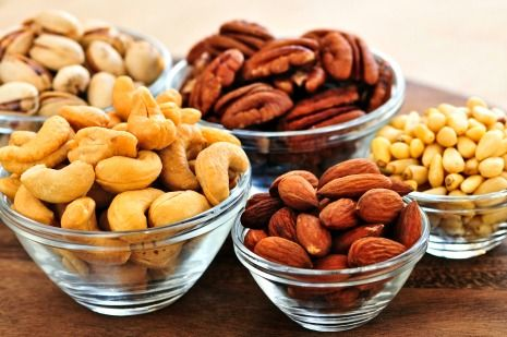Picture of healthy nuts