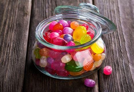 Jar of hard candies