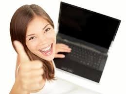 Happy job seeker thumbs up