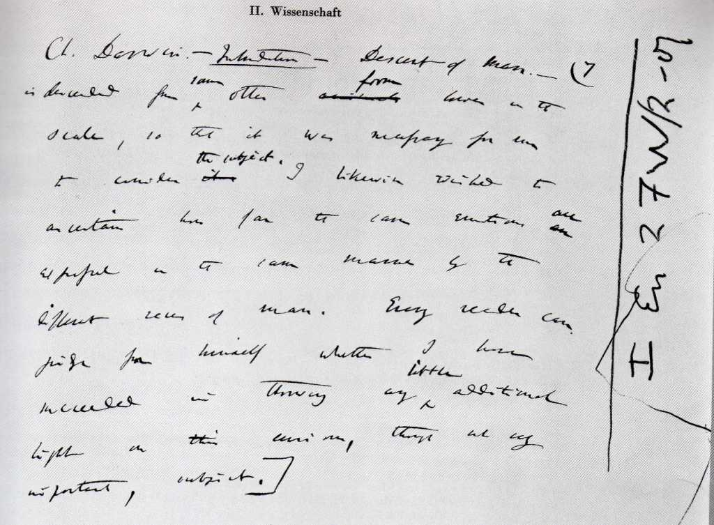 Charles Darwin's Handwriting