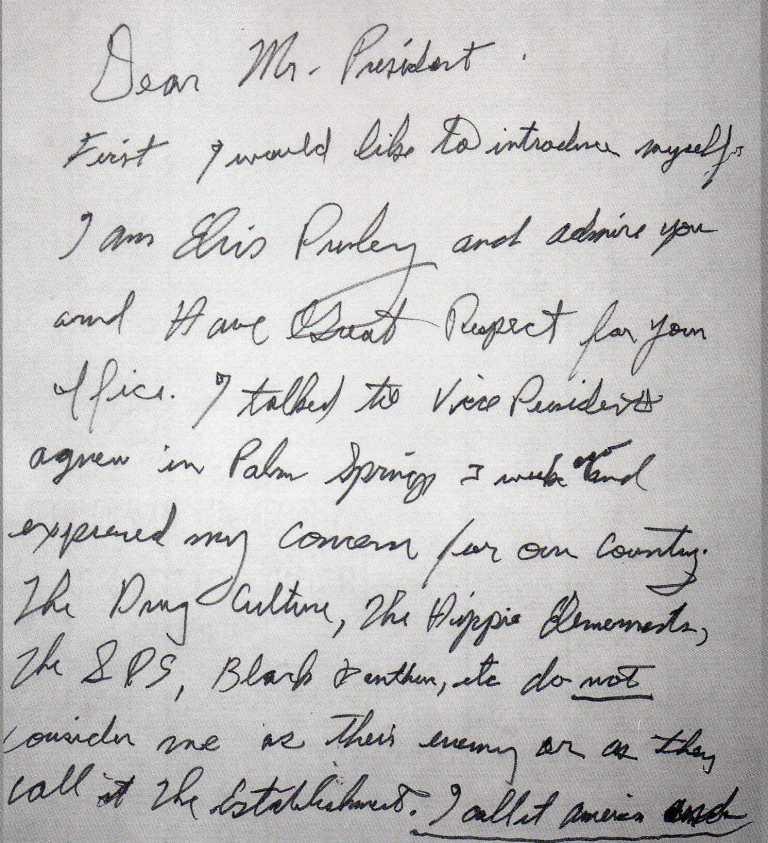 Elvis Presley's Handwriting