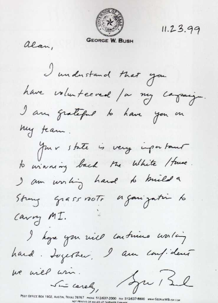 George W. Bush Jr. Handwriting