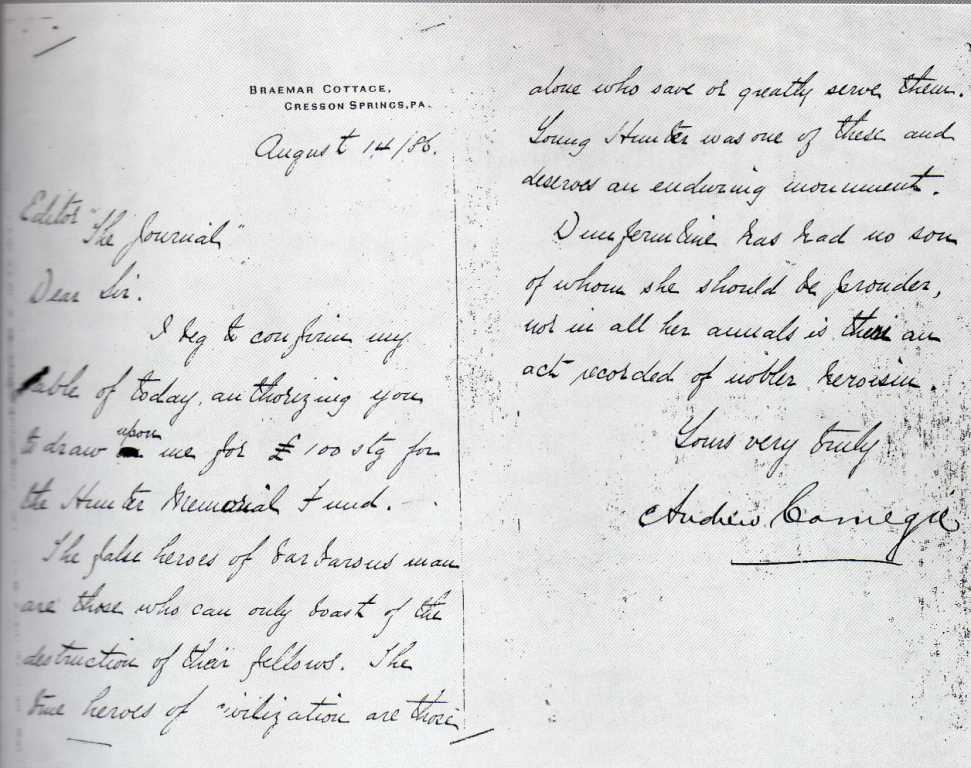 Andrew Carnegie handwriting